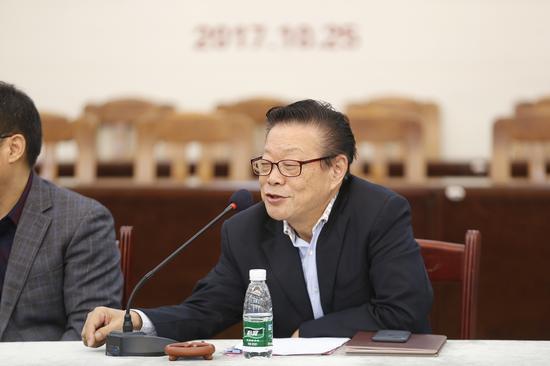中国工艺美术大师鲍志强发言