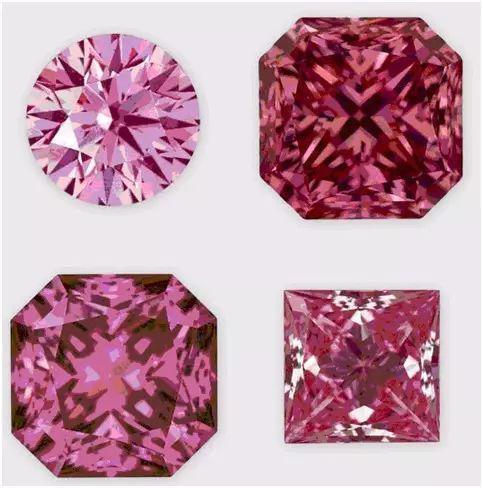 图4  Apollo钻石公司生产的CVD合成粉红色钻石