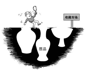 漫画:收藏市场乱象丛生。资料图