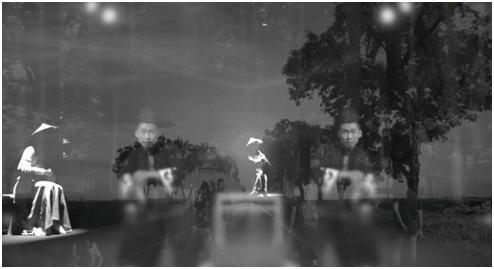 """芦幽优&芦雅兰Yoyo LU & Katarzyna Matuszczyk-LU,对话-忘记艺术 Dialogue-Forget about art,2017,影像视频Video,时长:6'00""""& 6'00"""",版数Edition:1/8"""