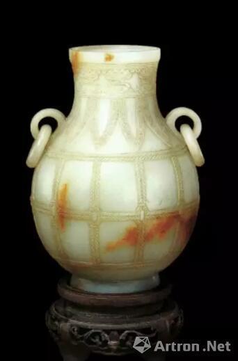 清 白玉活环仿古壶 清宫旧藏   北京故宫博物院藏品