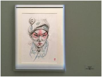 丁文尧Wenyao DING,武生Wu Sheng,2017,纸上钢笔画、丙烯墨水 Acrylic Ink on paper,53x38cm