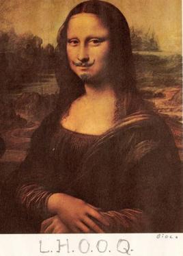 杜尚《蒙娜丽莎》
