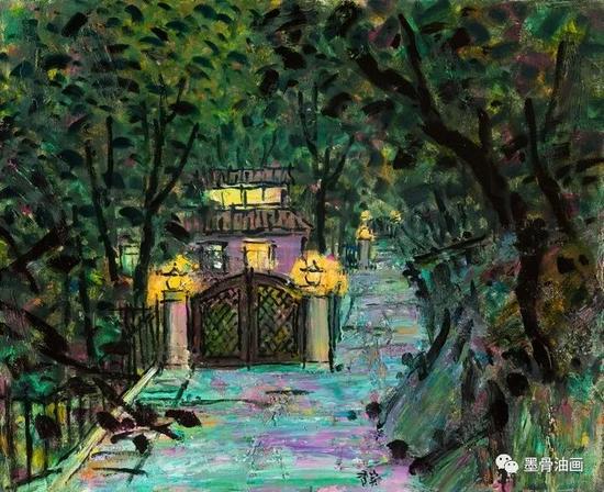 东邻西舍系列--张家灯火  65cm×80cm  油彩·麻布  2016年
