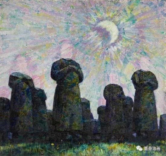 幸存  100cm×94cm  油彩·纤维板  1980年  四人作品联展 (1981)