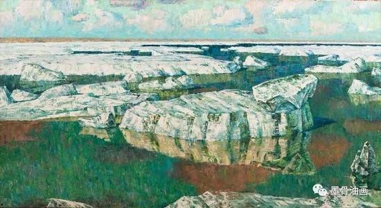 过去·现在·未来  100cm×185cm  油彩·麻布  1978年  第六届全国美术作品展览(1984)  中国美术馆收藏