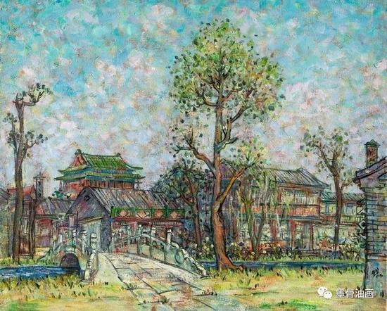京华遗韵系列--夏午  80.3cm×100.8cm  油彩·麻布  1991年