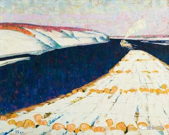 雪霁  73cm×91cm  油彩·麻布  1983年  中国绘画展(1987加拿大)