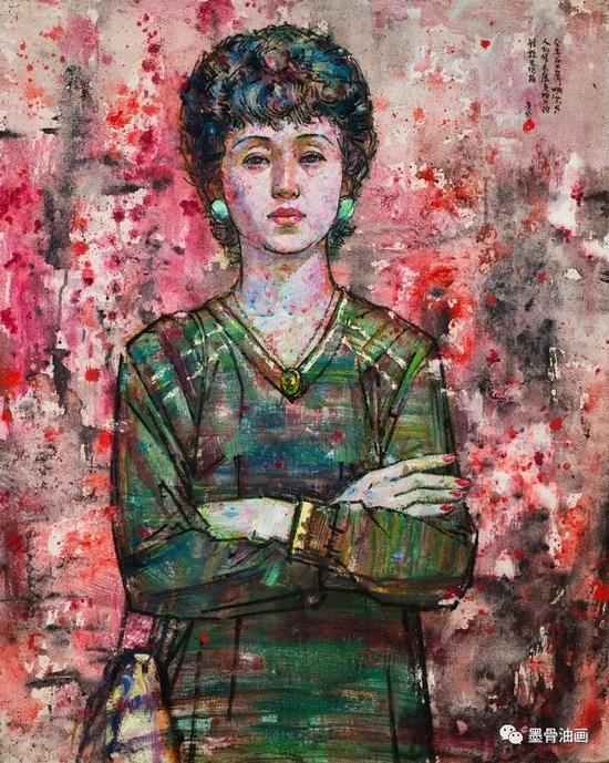 哈尔滨姑娘  73cm×91cm  油彩·麻布  1985年