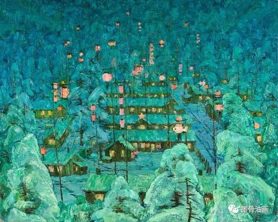 年年有余  73cm×91cm  油彩·麻布  1983年  中国绘画展(1987加拿大)