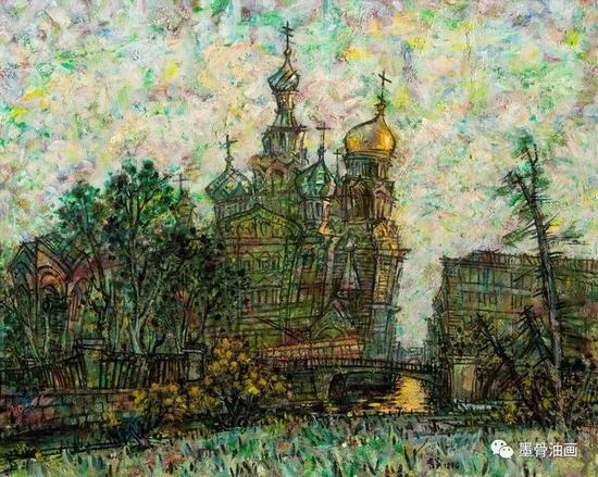 圣彼得堡的回忆  81cm×100 cm  油彩·麻布  1994年  第八届全国美术作品展 优秀作品奖(1994)