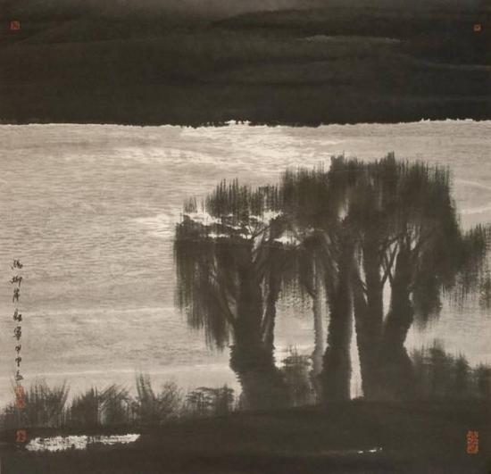 董继宁 杨柳岸    尺寸:69×70cm 约4.35平尺镜心    估价:15000-18000