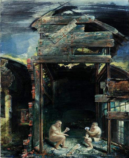 大余《原罪》 2014 布面油画 150x300cm.
