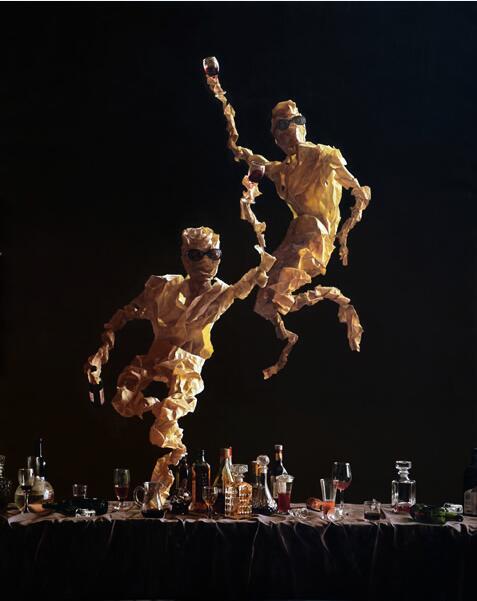 四毛《行乐3》  2015  布面油画  120×150cm
