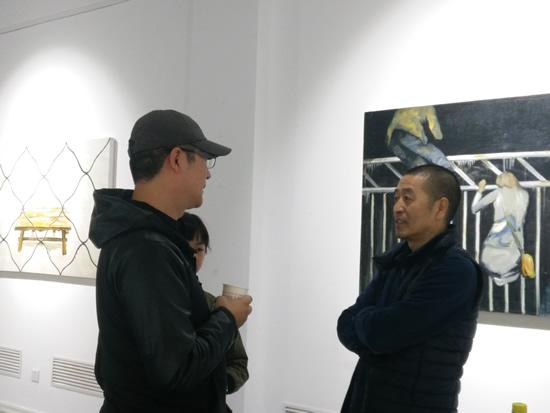 艺术家孟小为与著名导演冯雷交流