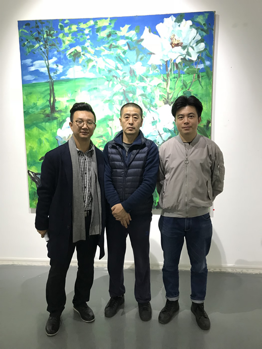 策展人李裕君、艺术家孟小为、白盒子艺术馆副馆长曹茂超