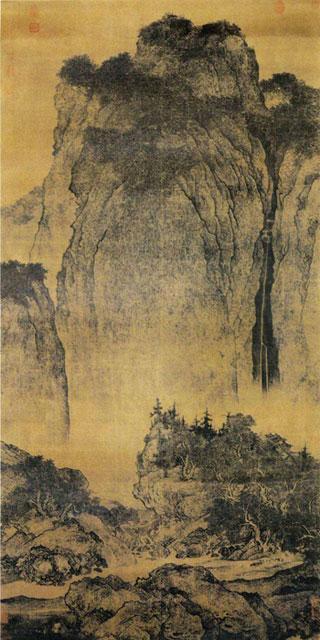 范宽《溪山行旅图》-北宋