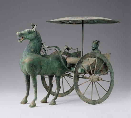 铜轺车,汉代,甘肃省武威雷台汉墓出土,甘肃省博物馆藏