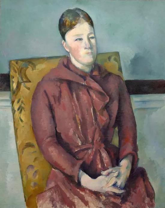 塞尚,《坐在黄色椅子上的塞尚夫人》,1888-1890年