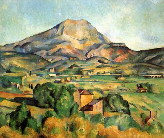 塞尚,《圣维克多山》,1885年