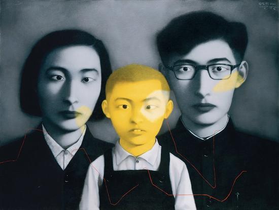 张晓刚 《血缘——大家庭,全家福》