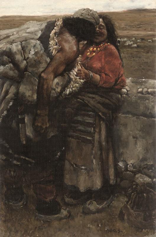陈丹青《西藏组画·牧羊人》
