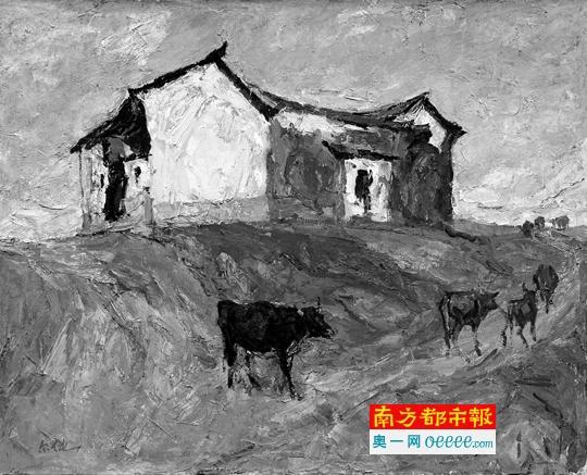 罗尔纯《坡》,80cm×100cm,油画,1995年。