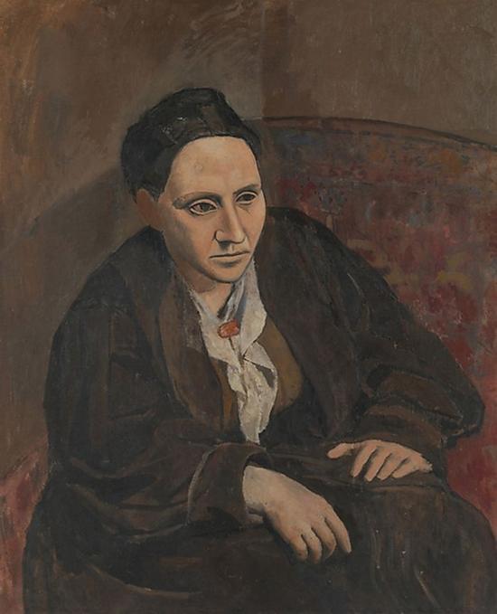 毕加索,《格特鲁德·斯泰因》,1905-1906年