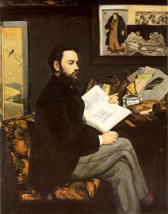 马奈,《左拉肖像》,1868年