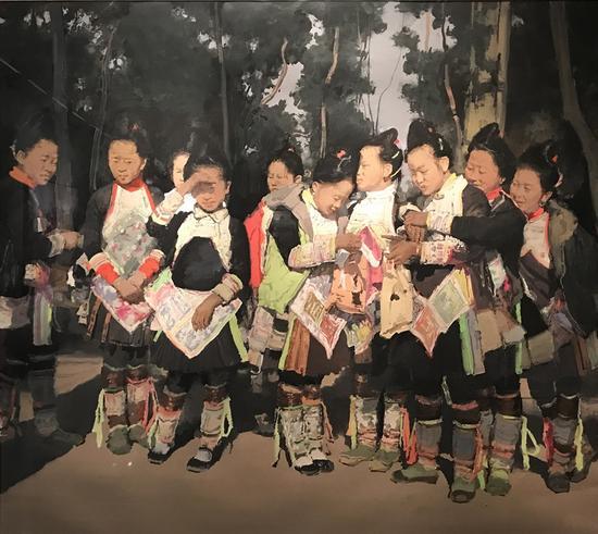 陆庆龙绘画作品展:农民工的赞歌