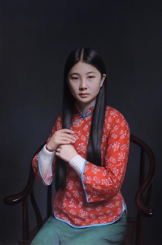 张青《传统女孩》