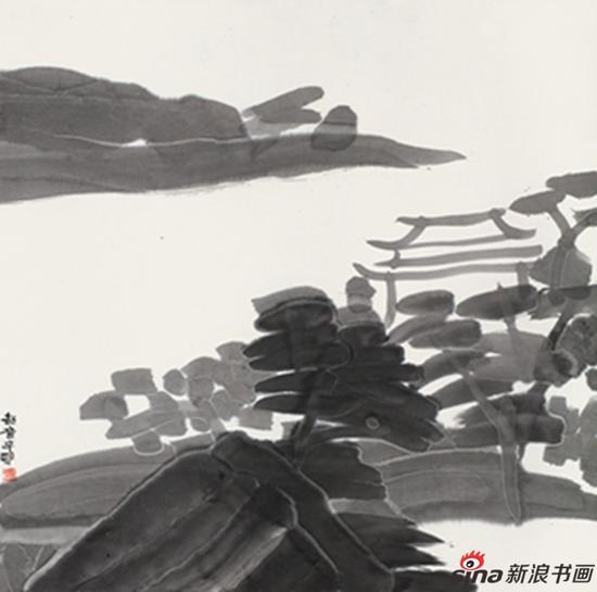 东园之一 王劼音69x69cm 纸本水墨 2011年