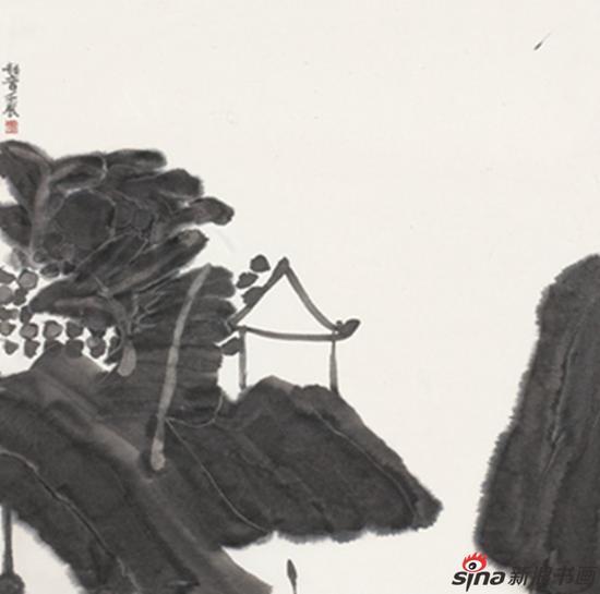 东园之二 王劼音69x69cm 纸本水墨 2012年