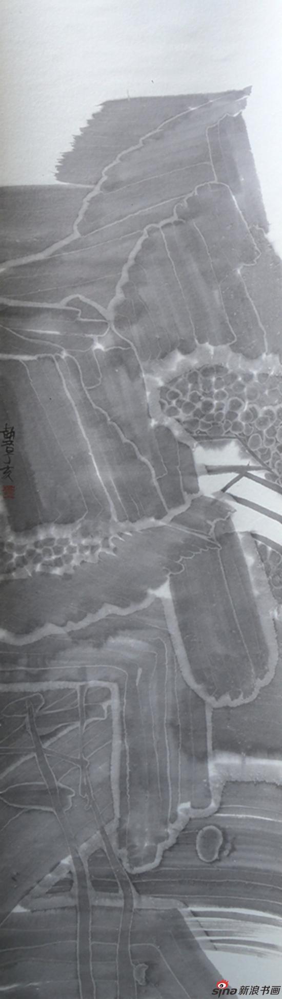 古典山水之四 136x35cm 纸本水墨 2007年