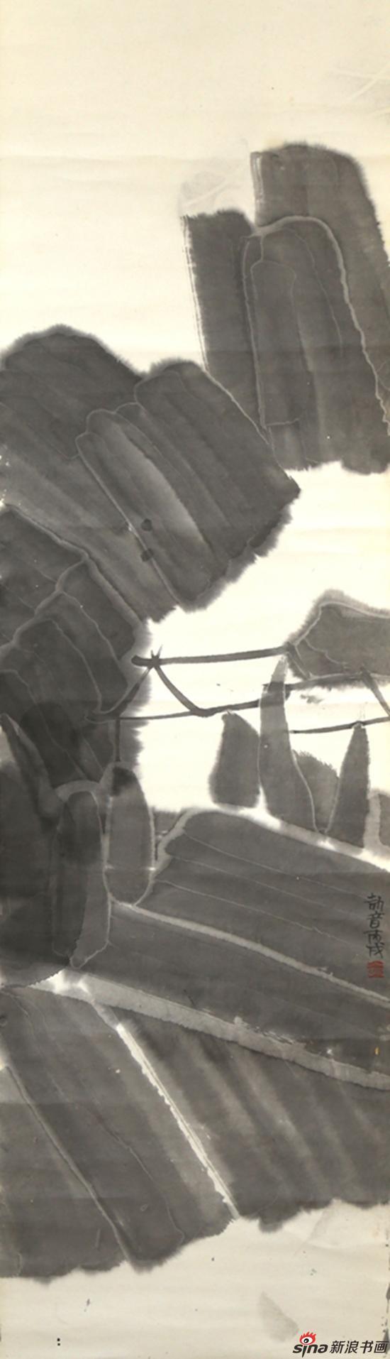 古典山水之一 136x35cm 纸本水墨 2006年