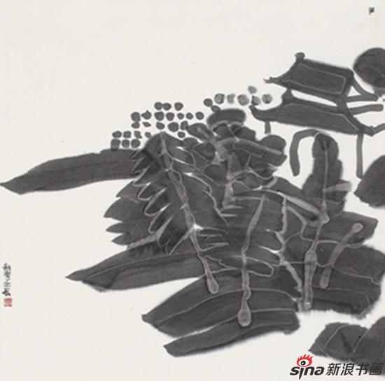 东园之三 王劼音69x69cm 纸本水墨 2012年