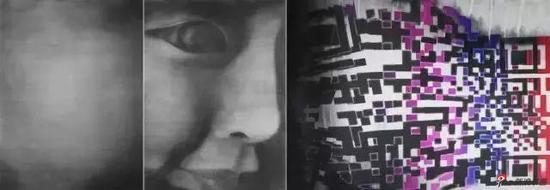 《二维码2016》水墨宣纸  97.2x280cm  2016  蔡广斌