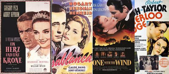 20世纪30年代上海街头的美国电影海报