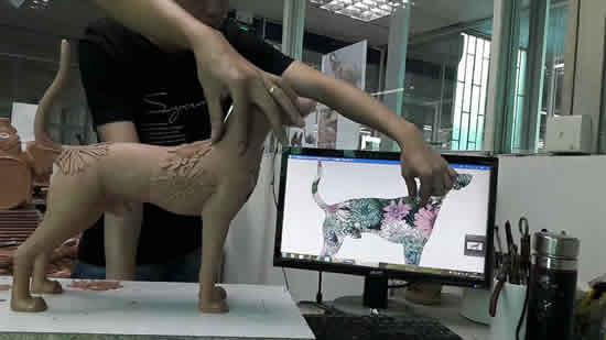 雕塑制作泥胚图