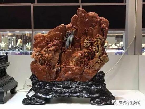 160848 寿山石 《依山傍水》    作者:罗嘉林、林建飞