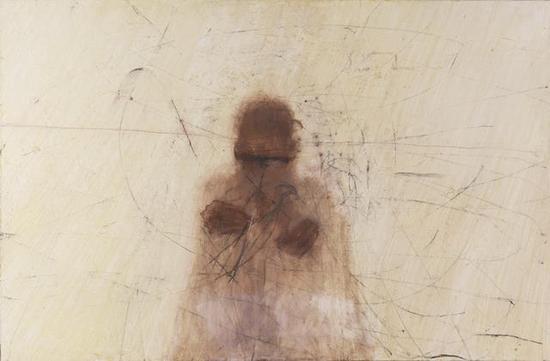 吕岩《编制的人》120×200cm 布面综合材料 2011