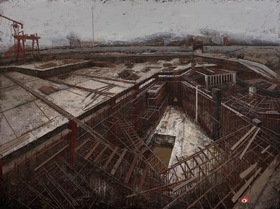 宗建成作品-《大建设》200x150cm 布面油画 2016年