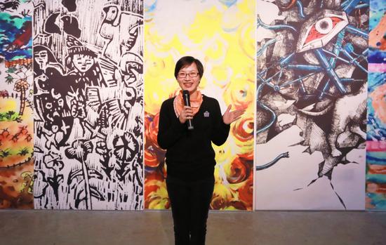 新美杯大赛评审组委会委员、中国美院设计学院讲师罗凌霞老师致辞发言