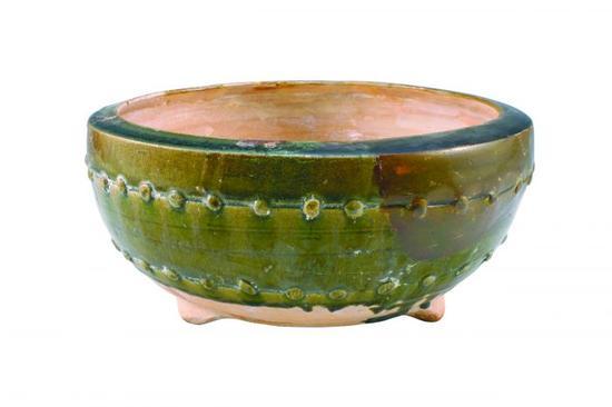 图2 南宋吉州窑绿釉乳钉纹三足瓷炉