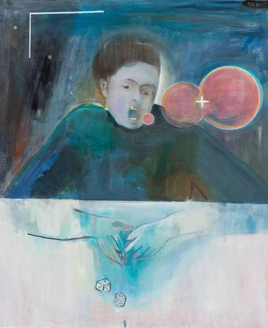 《三个泡泡》 布面油画  120×100cm  2017