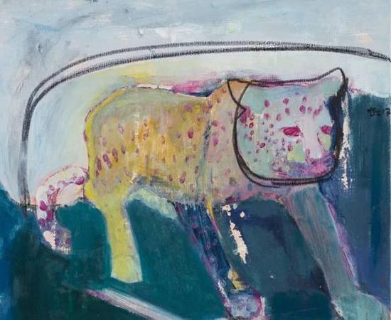 《粉红豹》 布面油画  50×60cm  2017