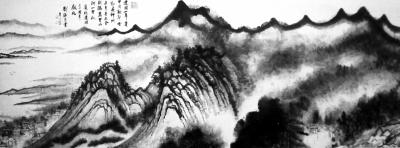 刘海粟创作的《江山万里图》(局部)