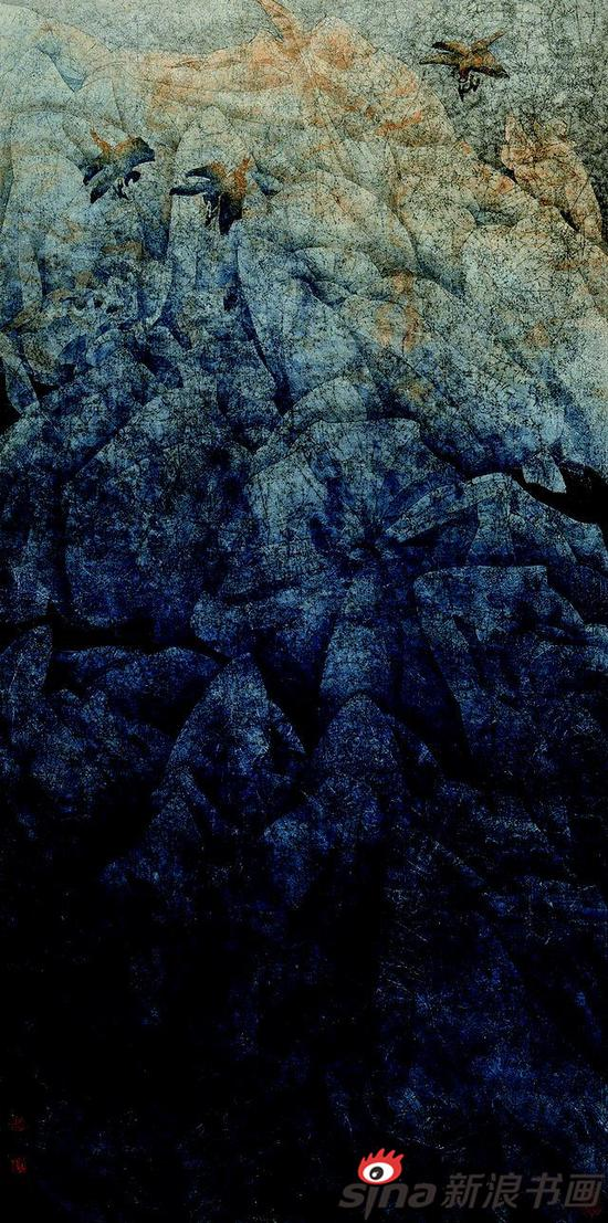 静静山谷 136x66cm 1989年