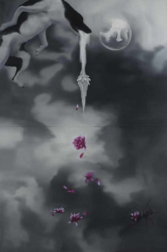 天狗吃月 160x240CM 布面油画 年代2011