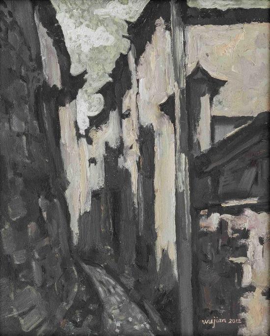 Wu Jian 吴健,扭的投影,2013,50cm×40cm